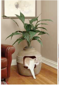 planter litter box for cats