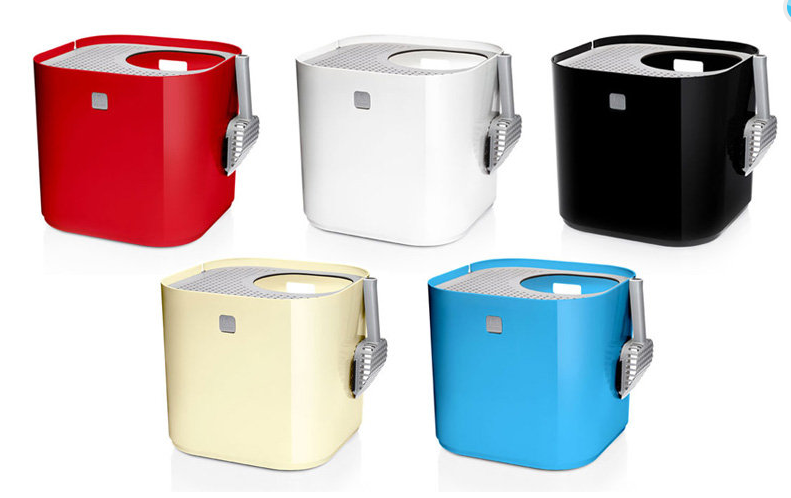 Colorful modern litter boxes for cats
