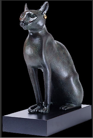 Egyptian Cat Sculpture (The MET Museum)