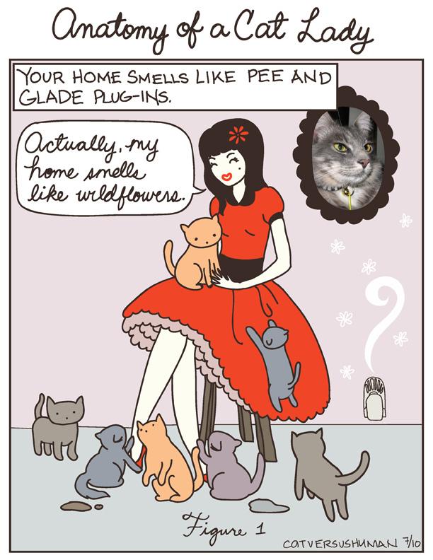 Yasmine Surovec cat cartoons